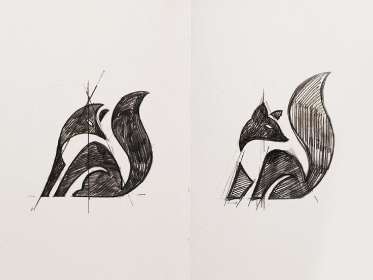 Fox Sketches by George Bokhua
