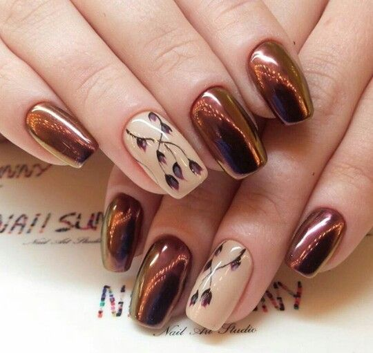 Brown skin nail art