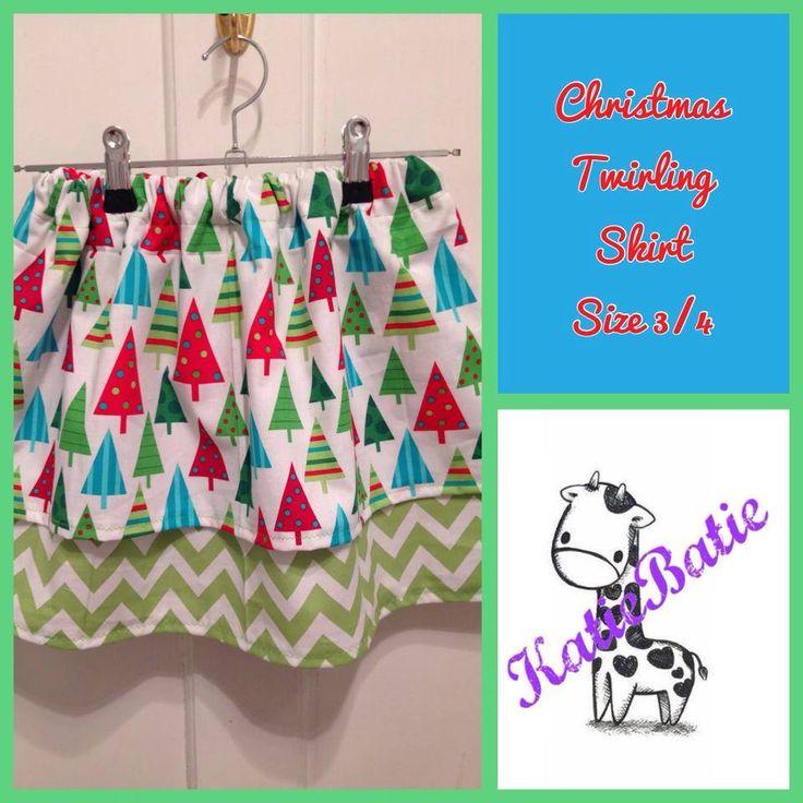 Handmade by KatieBatie Christmas tree twirling skirt.