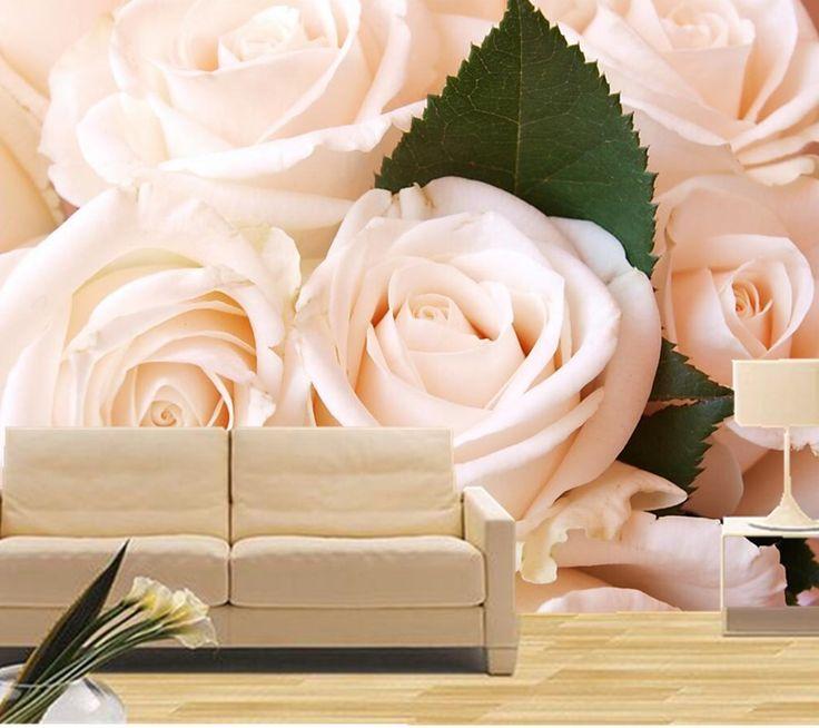18 best bedroom wall decorations images on pinterest for 3d rose wallpaper for bedroom
