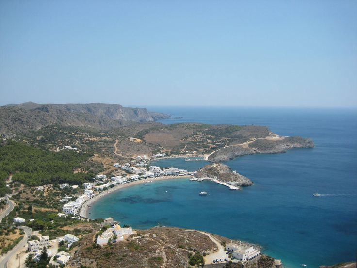 Kapsali from the castle in Hora, Kythera