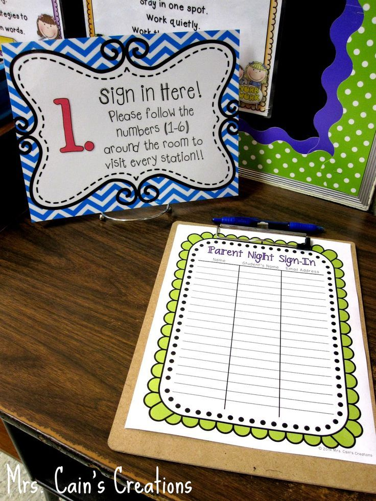 Running a Smooth Back to School Night! Time 4 Back-to-School - how to make a signup sheet on word