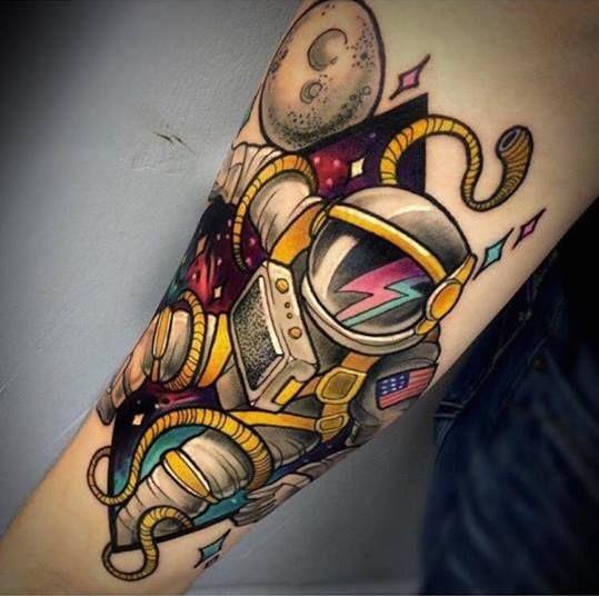 astronaut spaceship tattoo - photo #13
