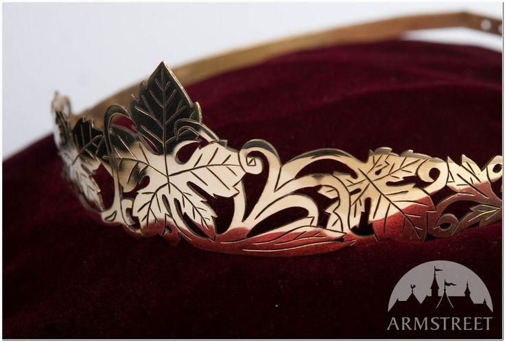 """Corona medievale in stile fantastico fatta a mano """"Foglie"""""""