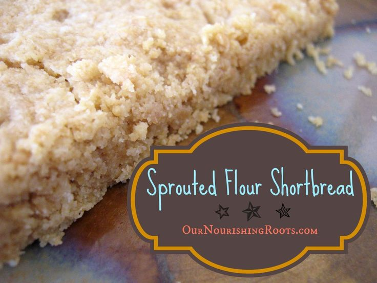All Butter Sprouted Flour Shortbread | OUR NOURISHING ROOTS #vitamink2 #realfood #wapf #wholegrain #sprouted