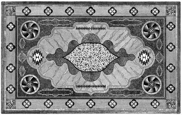 jonathan bréchignac draws painstakingly detailed carpets