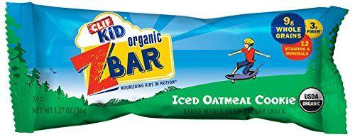 CLIF KID ZBAR - Organic Energy Bar - Oatmeal Cookie - (1.27 oz, 18 Count)