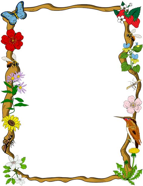 Printable nature border. Free GIF, JPG, PDF, and PNG downloads at http://pageborders.org/download/nature-border/