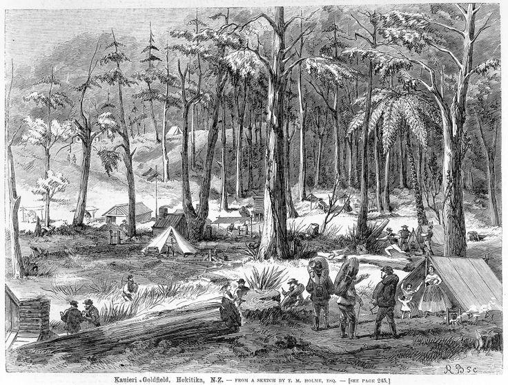 Kanieri Goldfield, Hokitika.1866.   West Coast New Zealand History