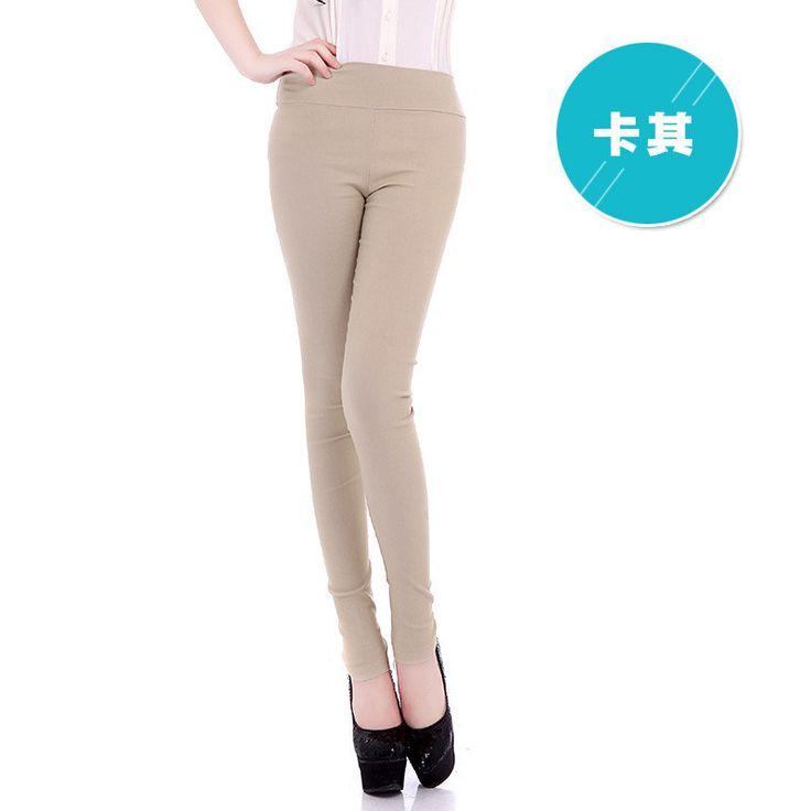 New Color Pencil Pants Summer Women's Slim Trousers Slim Skinny Jeans Trousers High Waist Pants women A304