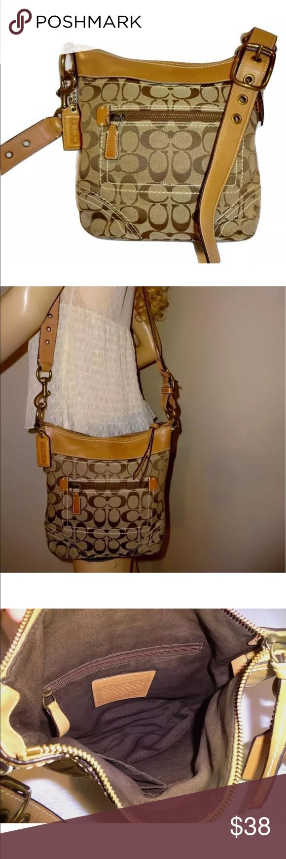 AUTHENTIC COACH CROSSOVER PURSE IN GREAT SHAPE! AUTHENTIC COACH CROSSOVER PURSE IN GREAT SHAPE! Coach Bags Crossbody Bags