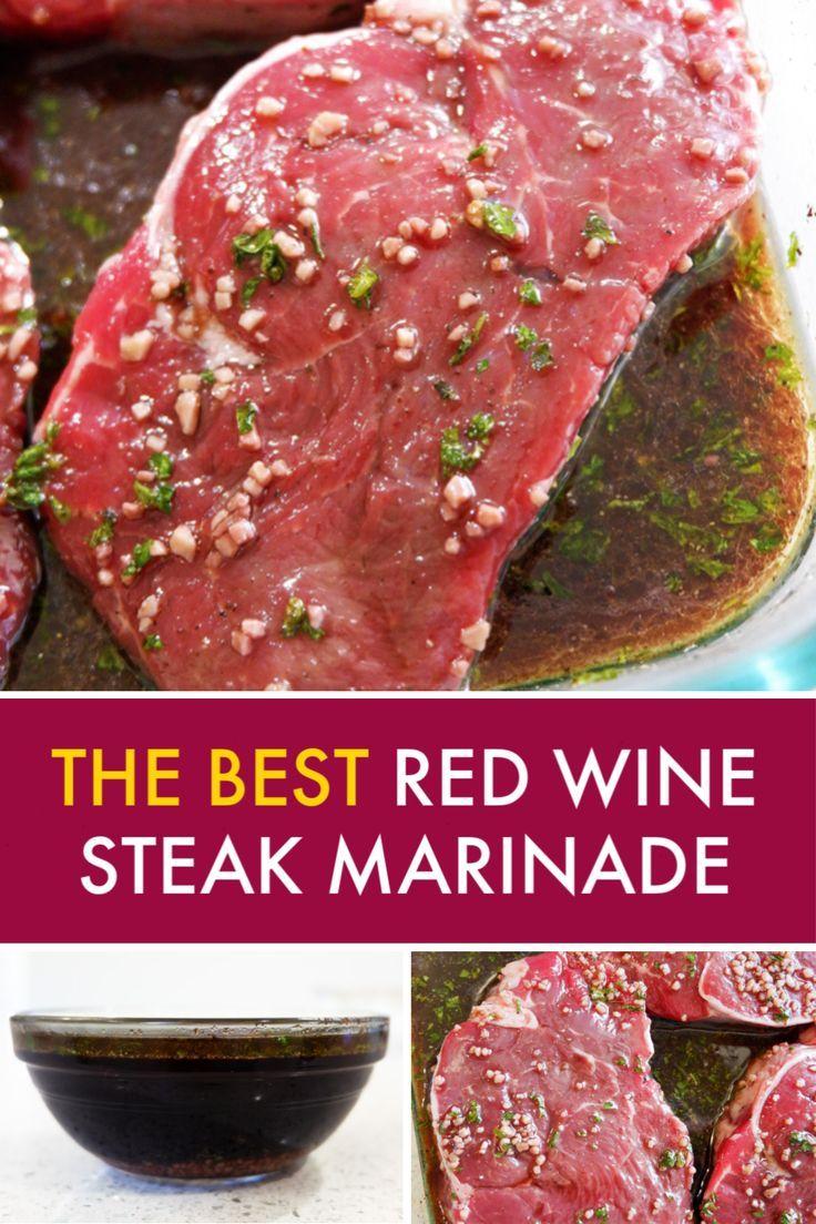 Red Wine Steak Marinade The Bewitchin Kitchen Recipe In 2020 Steak Marinade Flat Iron Steak Recipes Flank Steak Recipes