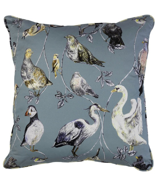 Flights of Fancy Topsy Turvy Cotton Satin Cushion, House of Hackney