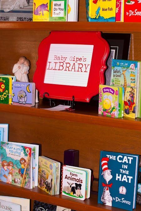 Build a library baby shower. Have a stand next to you when opening gifts and every book you get, instead of a card, put it up to display all the books you get