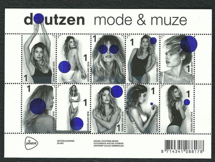 NETHERLANDS 2016 Dutch topmodel DOUTZEN KROES sheet of 10 stamps MNH(u)