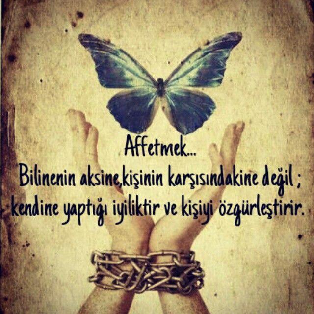 Affetmek... Bilinenin aksine, kişinin karşısındakine değil ; kendine yaptığı iyiliktir ve kişiyi özgürleştirir. #psikolog #öfke #affetmek