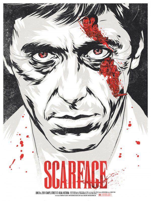 Scarface MovieFilm, Movie Posters, Phantom Cities, Al Pacino, Tony Montana, Alpacino, Picture-Black Posters, Cities Creative, Scarface