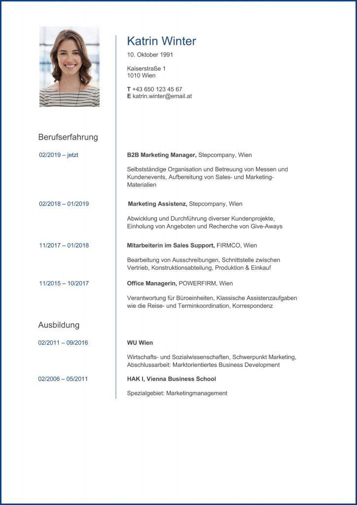 Lebenslauf Vorlage Word Kostenlos Osterreich 2021 Document Templates Templates Modsy