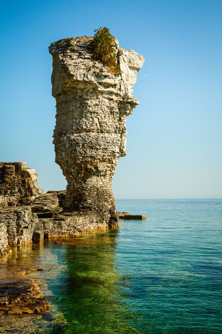 "Flowerpot Island is one of Canada's most fascinating natural attractions. It's famous for its natural sea stacks, the ""flowerpots."""