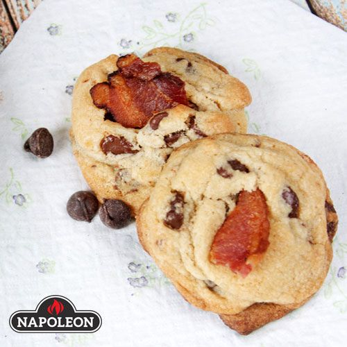 Bacon Bourbon Chocolate Chip Cookies Glorious circles of bacon-chocolate goodness