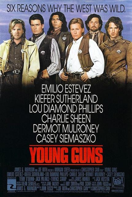 Young Guns (1988)-Emilio Estevez, Kefer Sutherland, Charlie Sheen, Lou Diamond Phillips