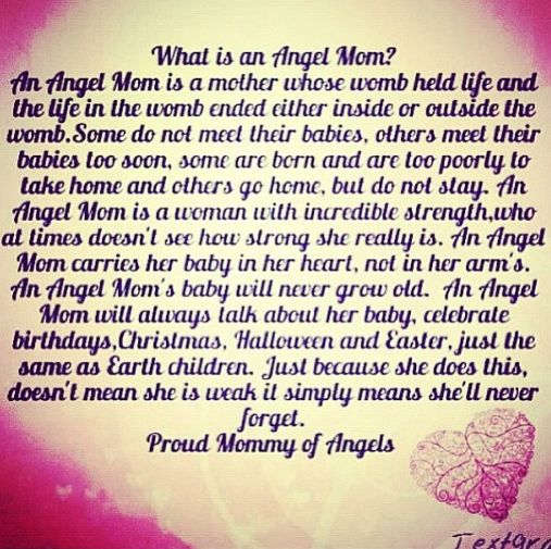 I'm an angel mom. If someone you know has had a loss ...