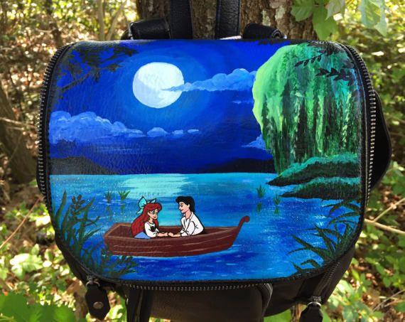 Disney Painted Backpack: The Little Mermaid