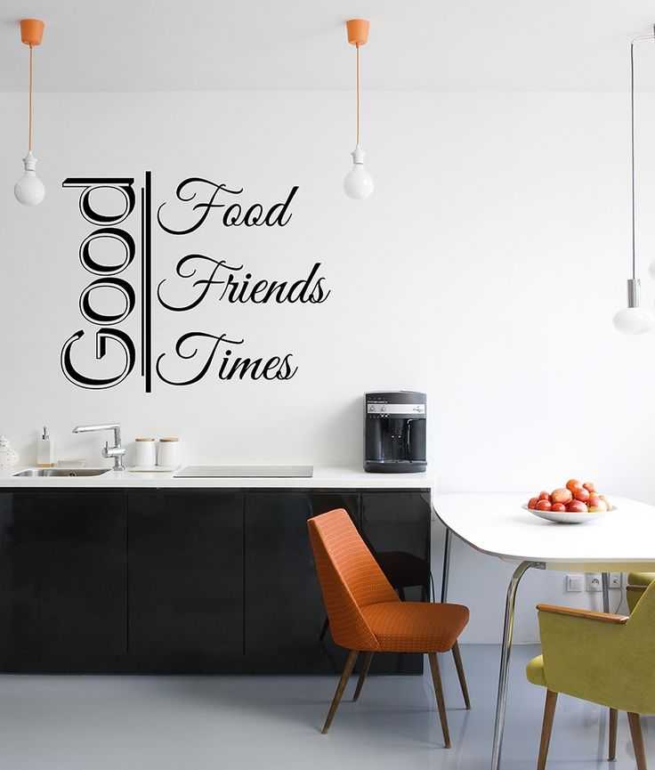 Wall stickers for kitchen have to bring not only good appetite, but also good mood. Like this one!