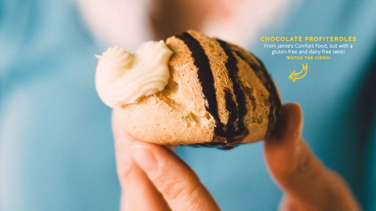 Chocolate Cream Puffs (Profiteroles)