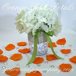 gorgeous silk rose petals are ideal for sprinkling on reception buffet and cake tables