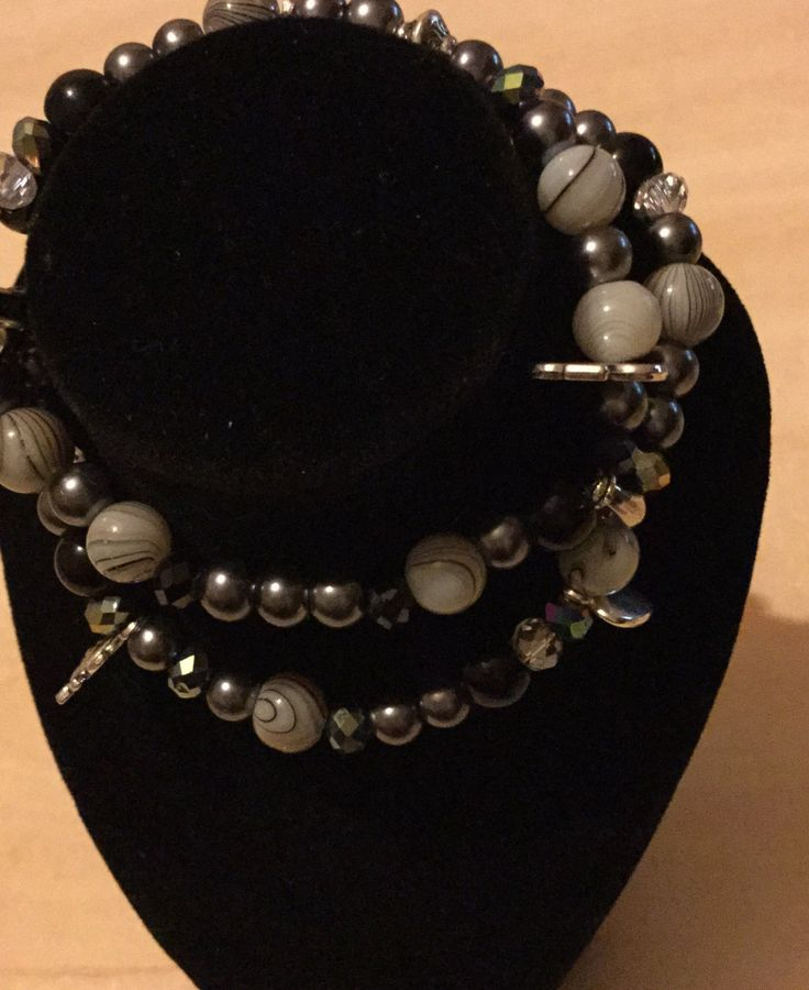 Pretty bead and charm bracelet by DesignsBySunshineUK on Etsy