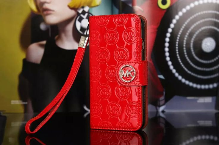 Michael Kors iPhone 7 Case Wallet Vernis Cover Red