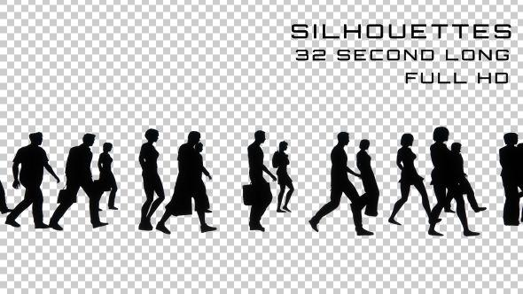 People Walking Silhouette - Long Version