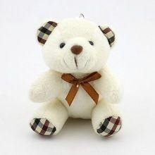 Pompom bonito Dos Desenhos Animados Animal de Pelúcia Urso de Brinquedo de Pelúcia Boneca Chaveiro Pequeno Pompom Pingente Chaveiro Mulheres Saco Encantos Chaveiro Bugiganga(China)