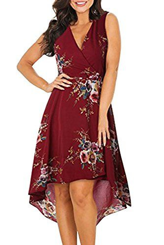 New MITILLY Women's Chiffon Floral Print Sleeveless High Low Casual Summer Beach Dress online. Find the perfect SUNGLORY Dresses from top store. Sku jffr96831shdl26144