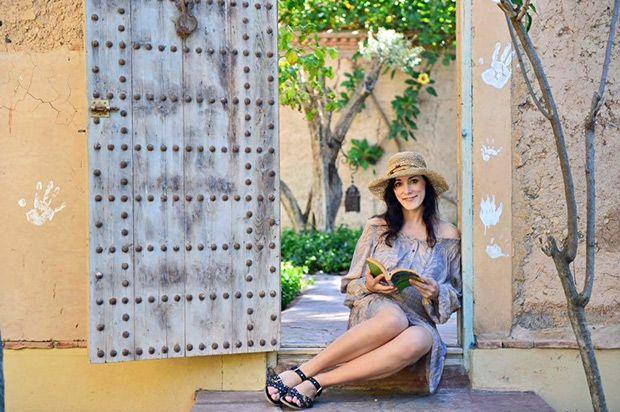 Editor Katrin in Marrakesch – alles über ihren Aufenthalt im Les Deux Tours unter http://ilovetravelling.de/les-deux-tours-marrakesch/ #marrakesch #lesdeuxtours #reiseblog #hotelbericht Foto: Harald Keller