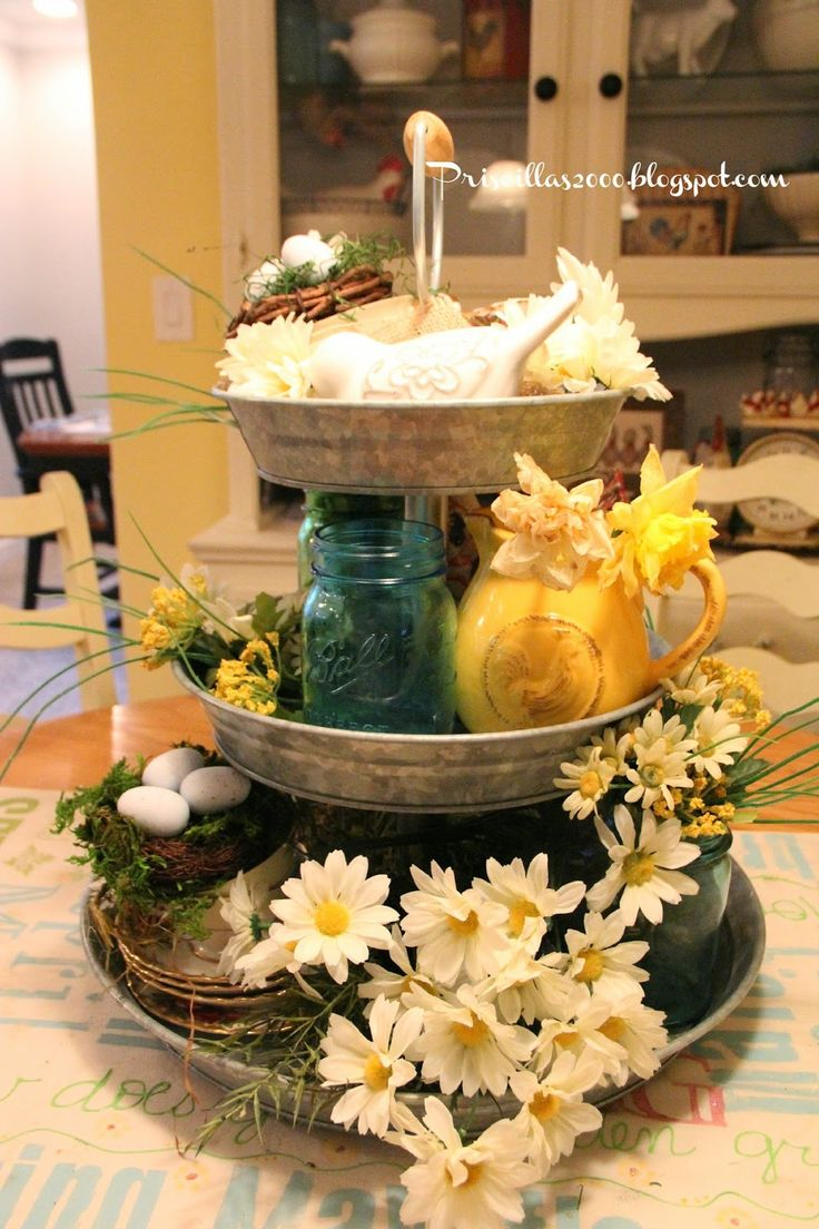 Wedding tray decoration ideas   best Tiered trays u Farmhouse centerpieces images on Pinterest