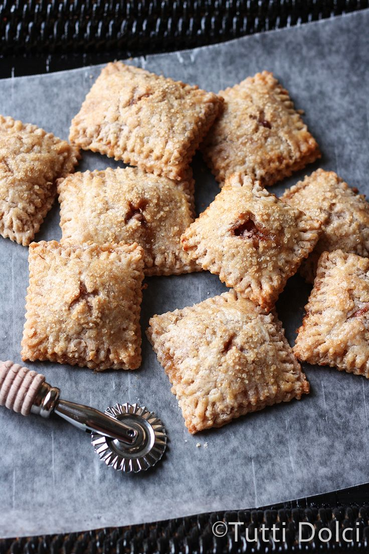 Apple Graham Hand Pies - mini golden pocket pies filled with apples and cinnamon