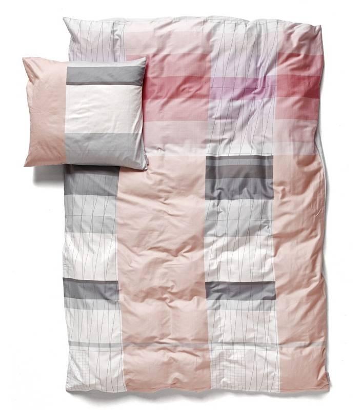 PARURE DE LIT Colour Block rose 2 pers