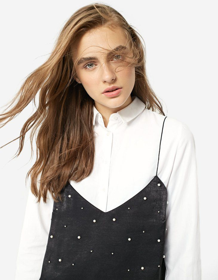 At Stradivarius you'll find 1 Camisole top with faux pearls for just 3618 Japan . Visit now to discover this and more Tops.