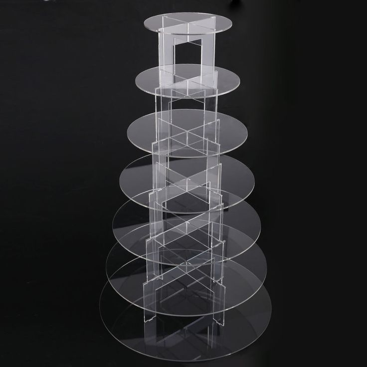 7 etages pr sentoir cupcake g teau muffin rond acrylique - Maison de la table ...