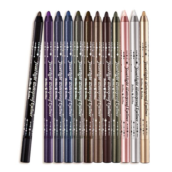 This Holika Holika Jewlel Light Waterproof Eyeliner comes in an assorted amount of colors. The eyeliner pencil is waterproof, long lasting, has a pigmented color, and extremely smudge resistant. Find it at Beauteque.com! (Free Sample Bag+Free Shipping)