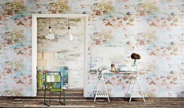 wallpaper, linen and velvet