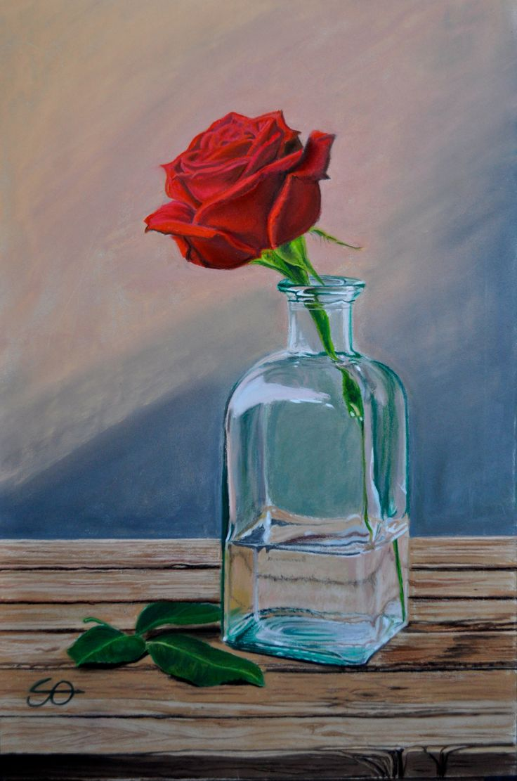 """Rosa"" Pastel on paper"