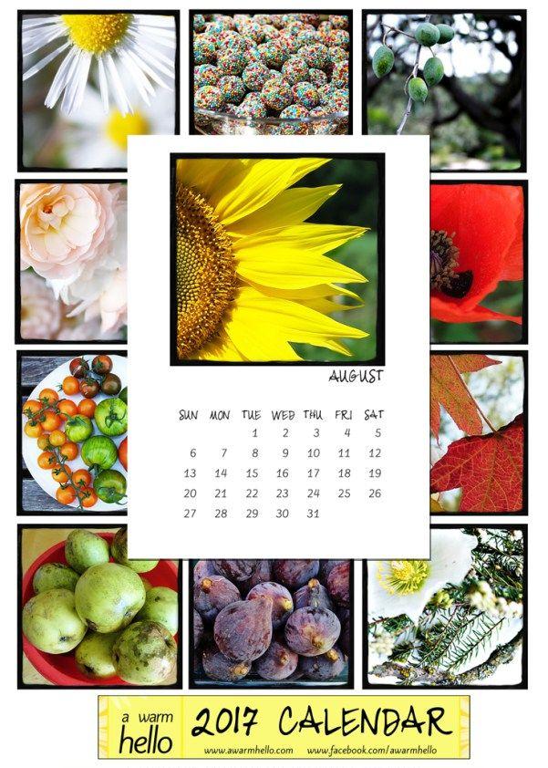 Come download your free 2017 Calendar at www.awarmhello.com