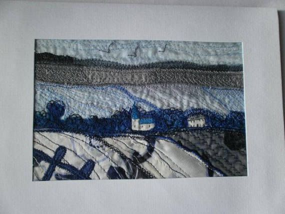 Yorkshire Wolds in Winter Textile Art