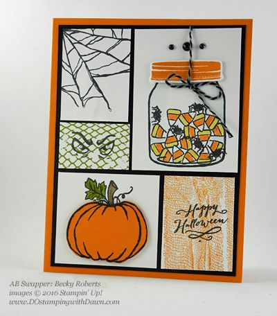 8 spooky stampin up halloween swap cards shared by dawn olchefske dostamping - Handmade Halloween Cards Pinterest