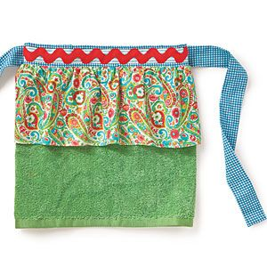 Summer Entertaining Essentials | Hot Mama Aprons | SouthernLiving.com MUST MAKE!  TOWEL, BRILLIANT