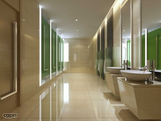 Public restroom design public toilet 020 by guamwork for Washroom interior design