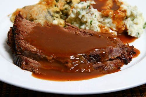 Roast Beef with Coffee Gravy, besides being THE secret ingredient in chocolate recipes, chili,and sauteed mushrooms!!!